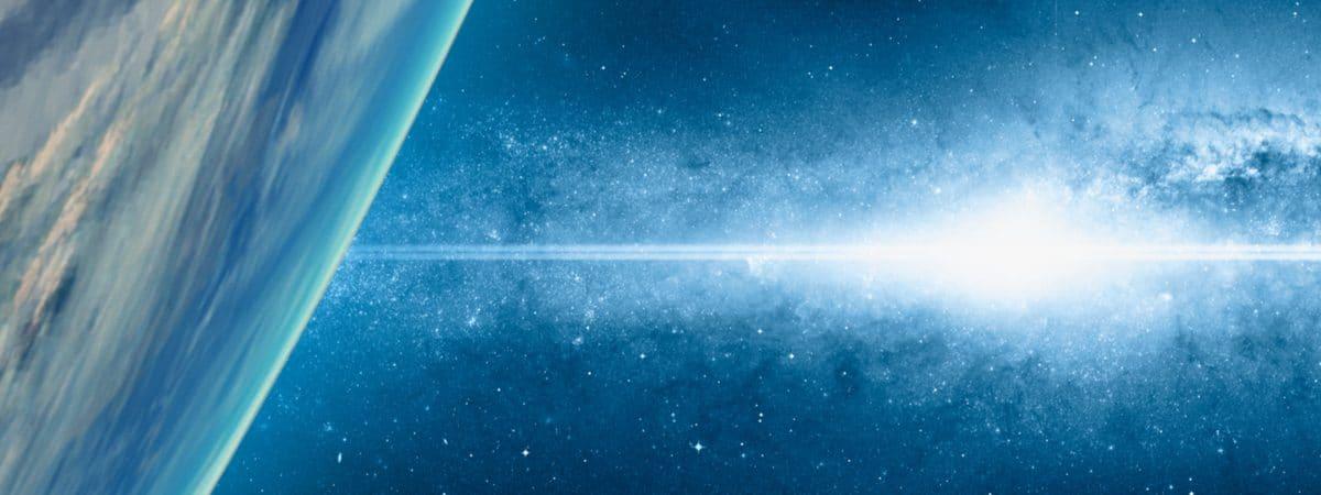 Supernova ocorrendo perto da Terra, em imagemabstrata
