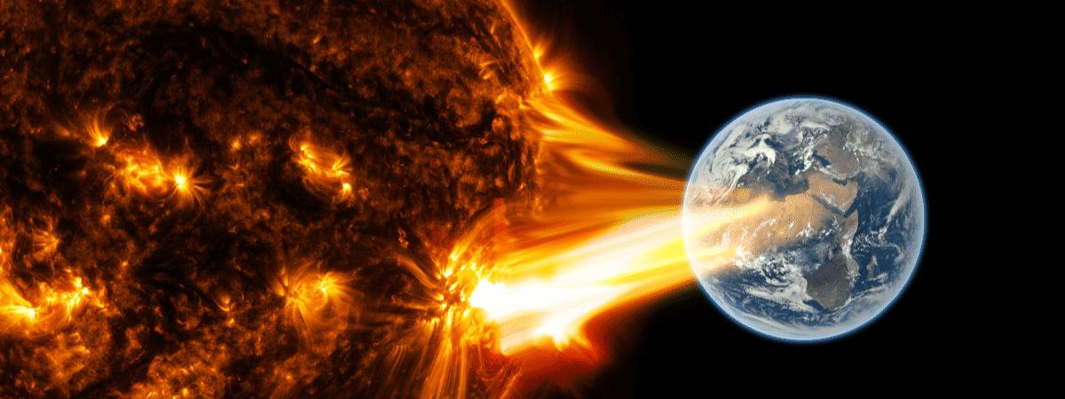 Ejeção de Massa Coronal, ou tempestade solar