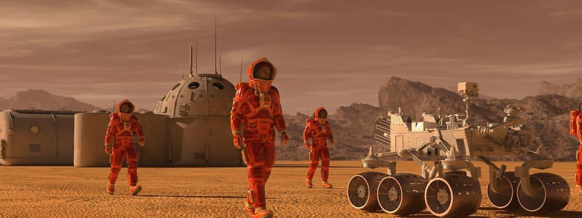 Colony on Mars: illustration