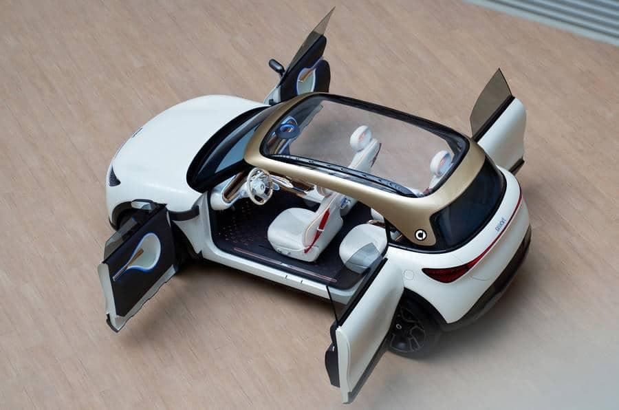 Visão aérea do novo Concept #1, da Smart