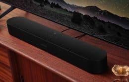 Nova geração da soundbar Beam da Sonos tem suporte para Dolby Atmos e novos formatos de áudio