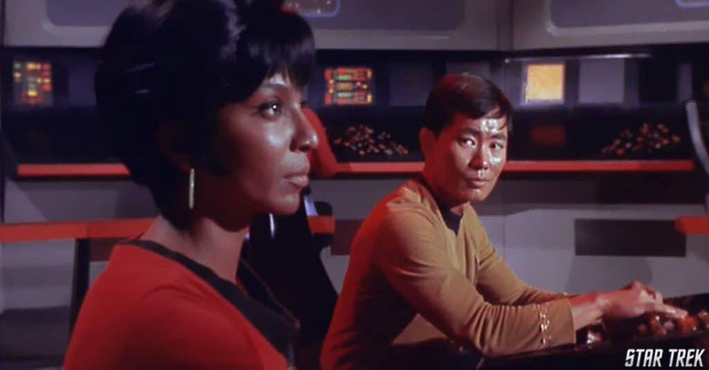 George Takei eram parte do elenco multiétnico de 'Star Trek' já nos anos 1960. Imagem: Paramount/Divulgação