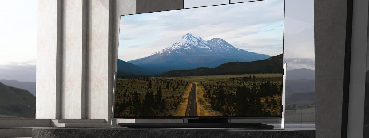Tela da TV ultrafina X9 da TCL