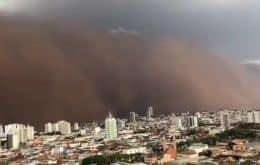 O deserto é aqui: internet bomba com cenas de tempestades de areia em SP e MG