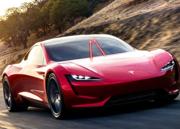 Tesla com limpador de parabrisas a Laser