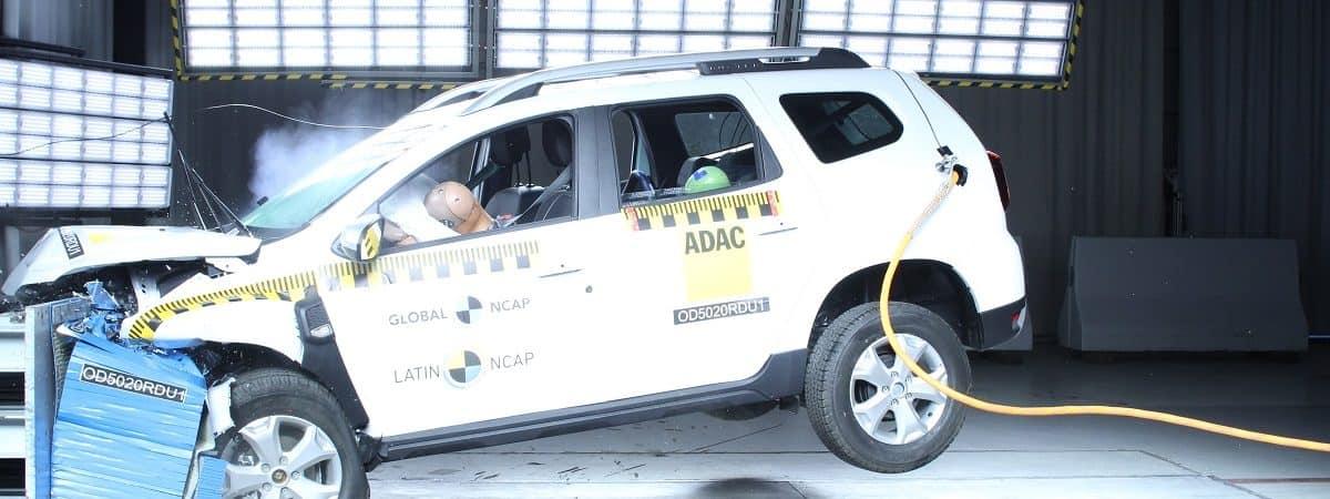 Teste de impacto do Renault Duster pela NCAP