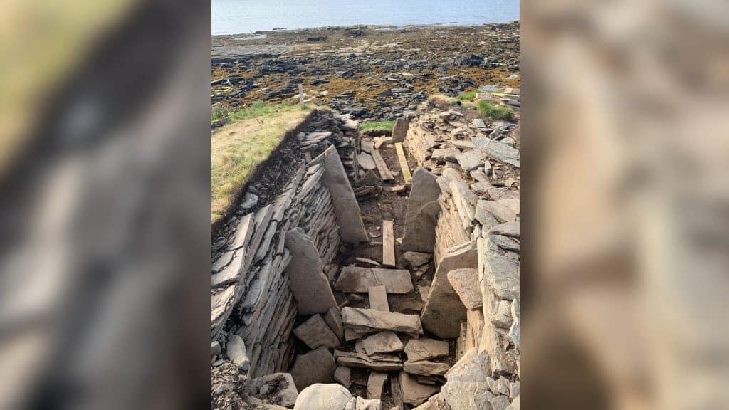 Imagem de uma tumba pré-histórica na Escócia