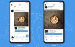 Twitter testa novo visual da linha do tempo, com foto de tela inteira e estilo do Instagram