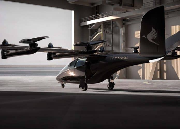 carro voador elétrico VA-X4 estacionado