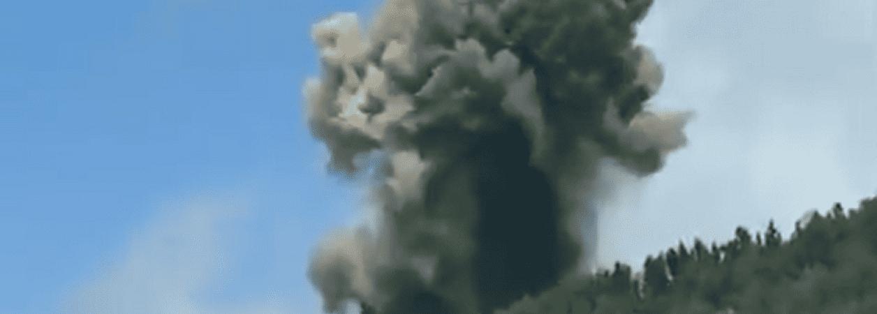 vulcão tsunami erupção