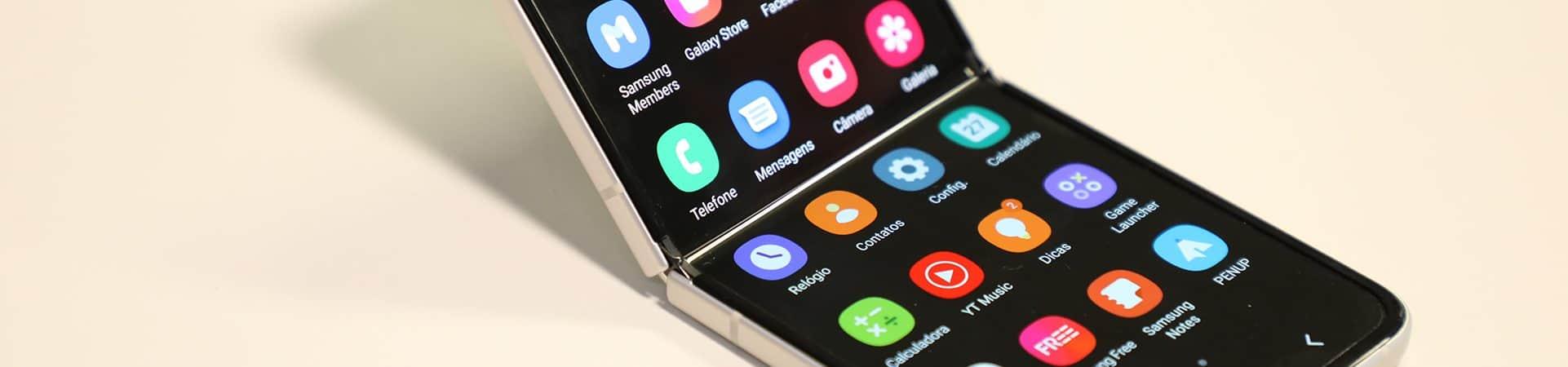 Galaxy Z Flip 3 aberto