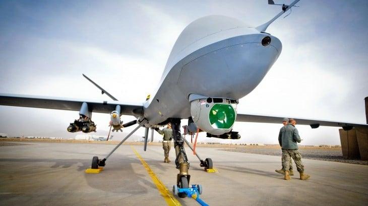 Imagem mostra um drone militar autônomo, que consegue agir por conta própria em ataques em zonas de conflito