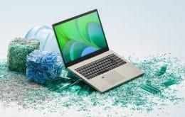 Ecologia digital: Acer lança linha de notebooks feitos com plástico reciclado