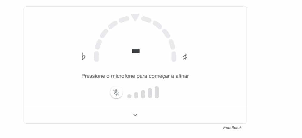 Afinador de guitarra do Google