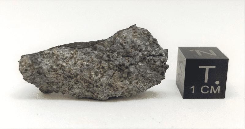 Fragmento do meteorito Marília da coleção particular de Rodrigo Guerra