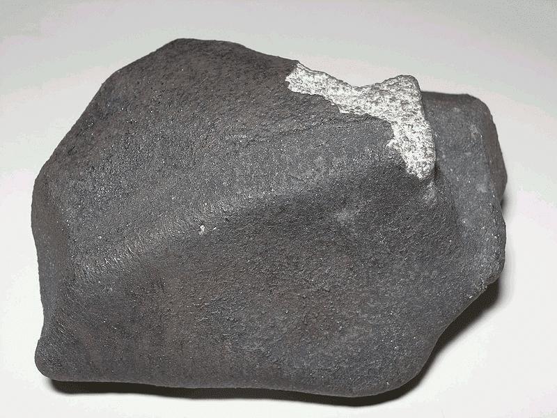 Fragmento de 351,21g do meteorito de Marília recuperado 50 anos atrás