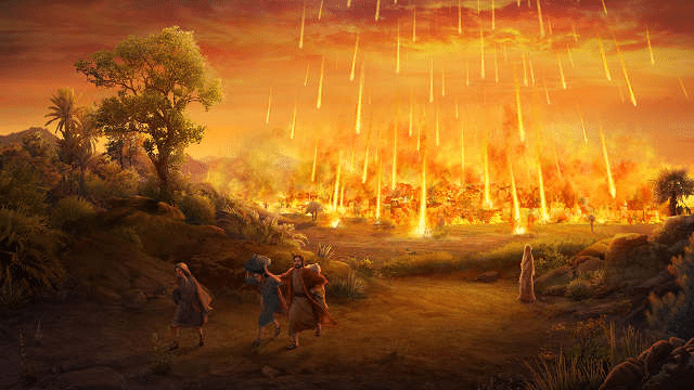 """Arte do filme """"God's Destruction of Sodom and Gomorrah"""""""