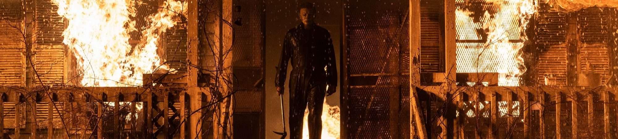 Michael Myers (también conocido como The Shape) en Halloween Kills, dirigida por David Gordon Green