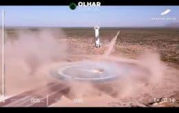 Assista ao pouso do foguete do voo de William Shatner, o Capitão Kirk, para o espaço