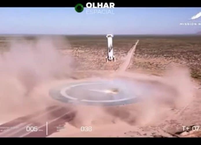 Aterrizaje de cohetes de origen azul