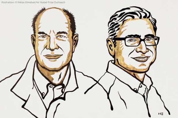 Ilustração dos ganhadores do Prêmio Nobel 2021 de Medicina