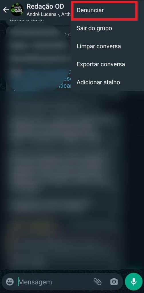 Print do aplicativo do WhatsApp para Android