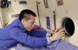 Los astronautas chinos tomaron fotos increíbles de la Tierra con un teléfono inteligente