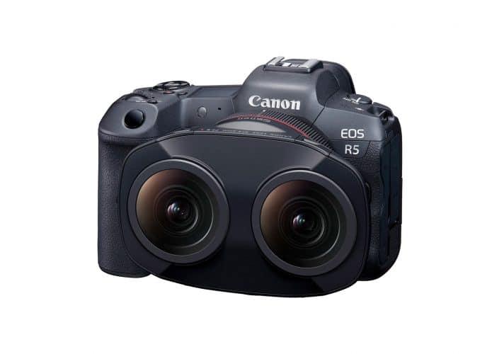 Lente fisheye dupla para realidade virtual da Canon