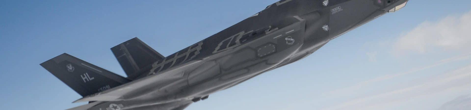 Uma aeronave F-35A Lightning II