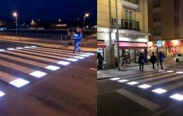 Sin atropellos: los pasos de peatones con sensores iluminados se prueban en España