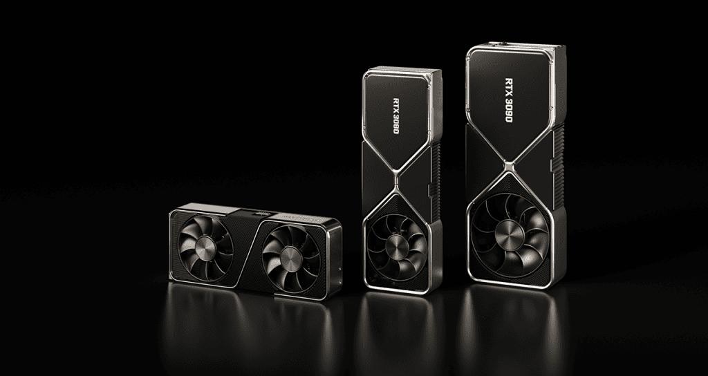 GeForce RTX 3070, 3080 e 3090 (Imagem: divulgação/Nvidia)