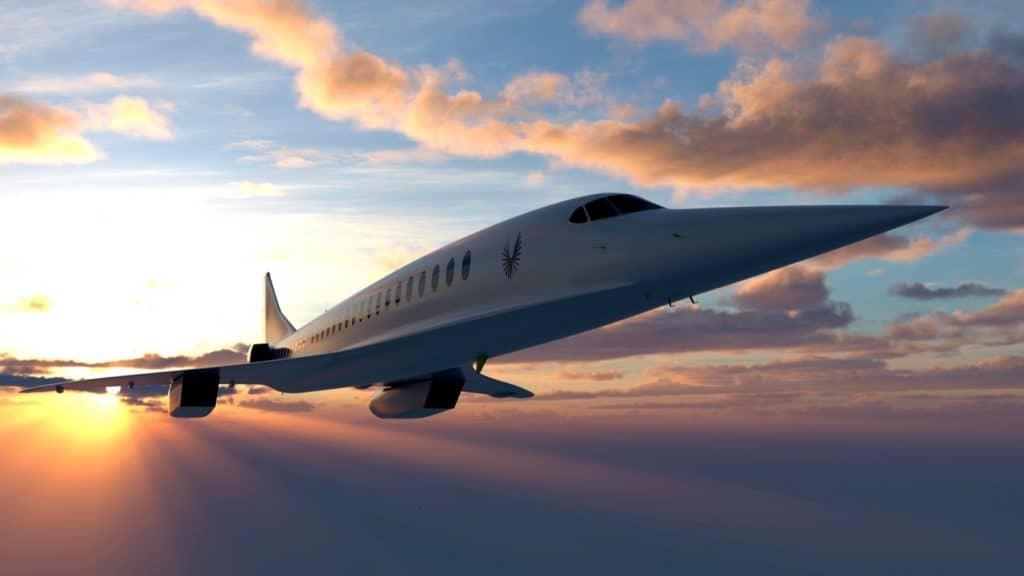 avião Overture no céu