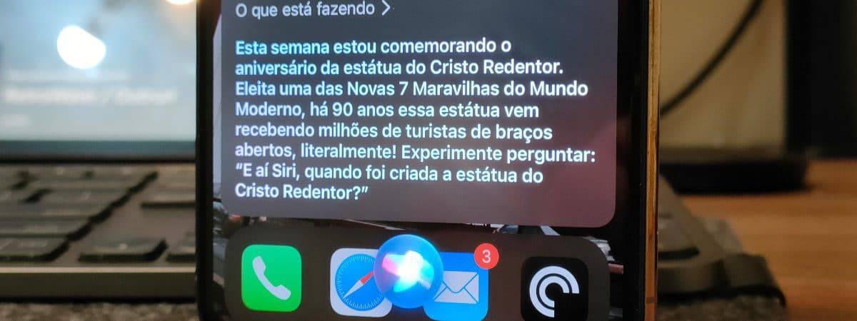 Siri comemora os 90 anos do Cristo Redentor (Imagem: André Fogaça/Olhar Digital)