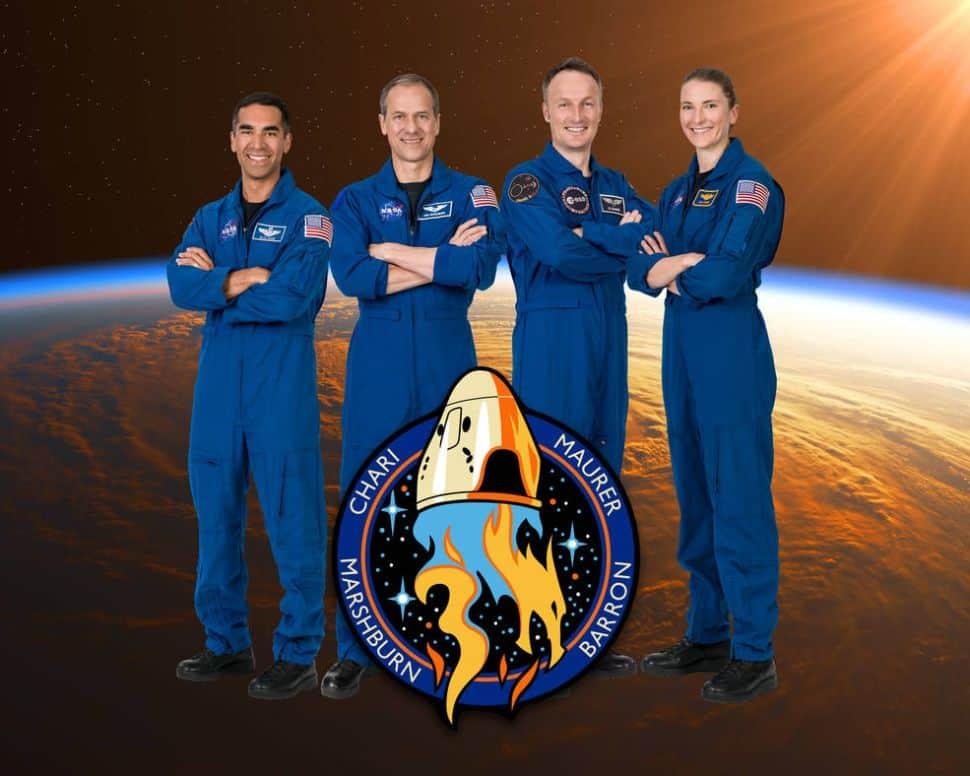 Imagem mostra os quatro astronautas que voarão na próxima missão da SpaceX, chamada Crew-3