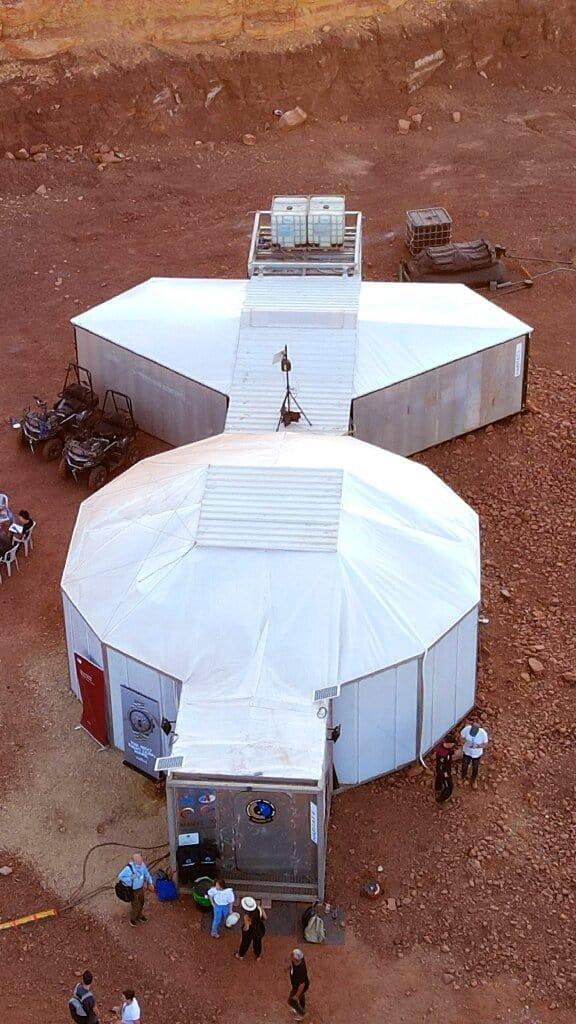 Base que servirá de moradia a astronautas em projeto que simula a vida em Marte dentro de Israel