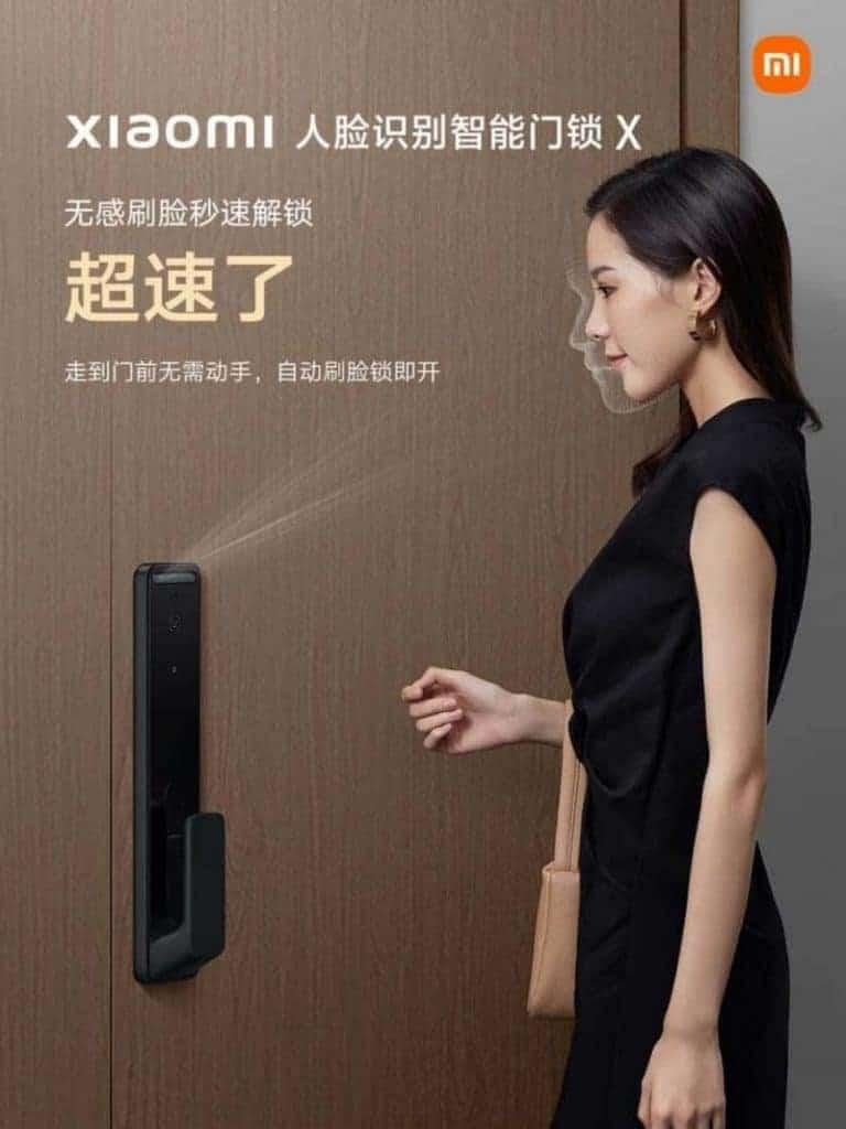 Xiaomi anuncia fechadura smart com reconhecimento facial. Imagem: Xiaomi/Divulgação.